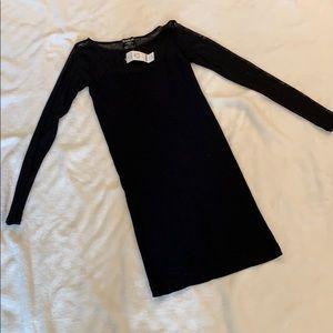 Black NWT sheer neckline/Sleeve bodycon Dress, P/S